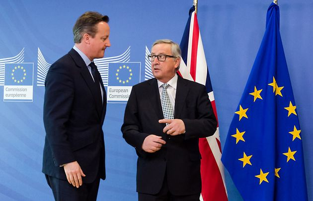 David Cameron with European Commission President Jean-Claude