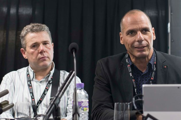 Former Greek Finance Minister Yanis Varoufakis at the