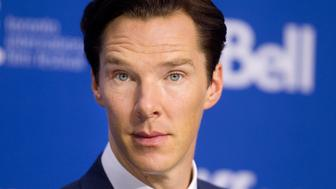 "Actor Benedict Cumberbatch attends a news conference for the film ""The Fifth Estate"" at the 38th Toronto International Film Festival (TIFF) in Toronto September 6, 2013. REUTERS/Fred Thornhill (CANADA - Tags: ENTERTAINMENT HEADSHOT)"