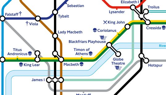 Shall I Compare Thee To Fulham Broadway? London's Tube Map Gets A Shakespearean
