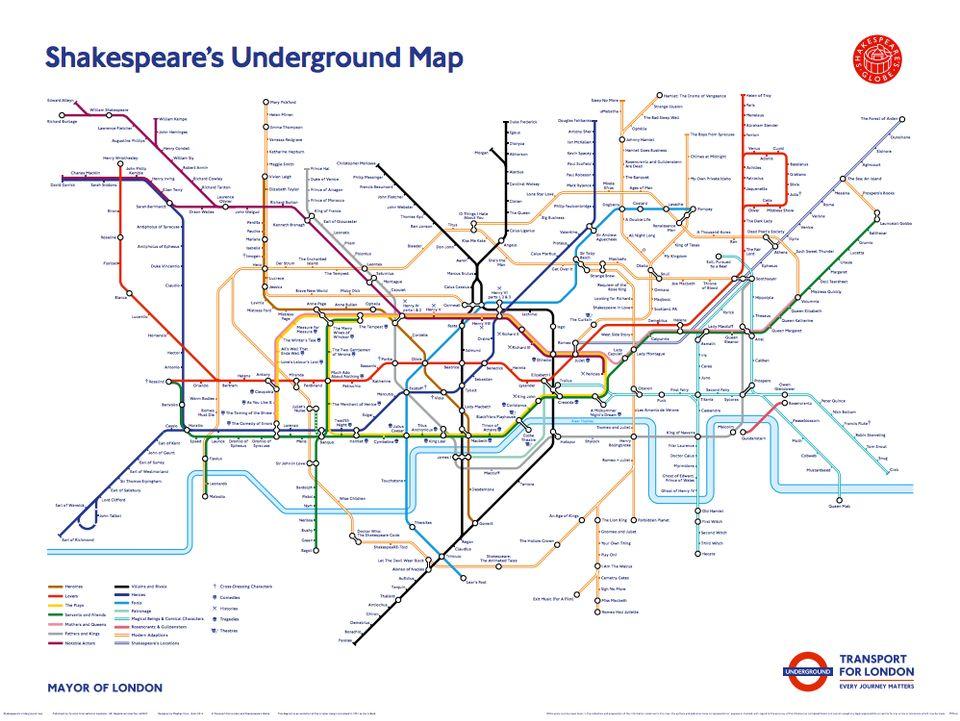 London Underground Tube Map Gets Shakespeare