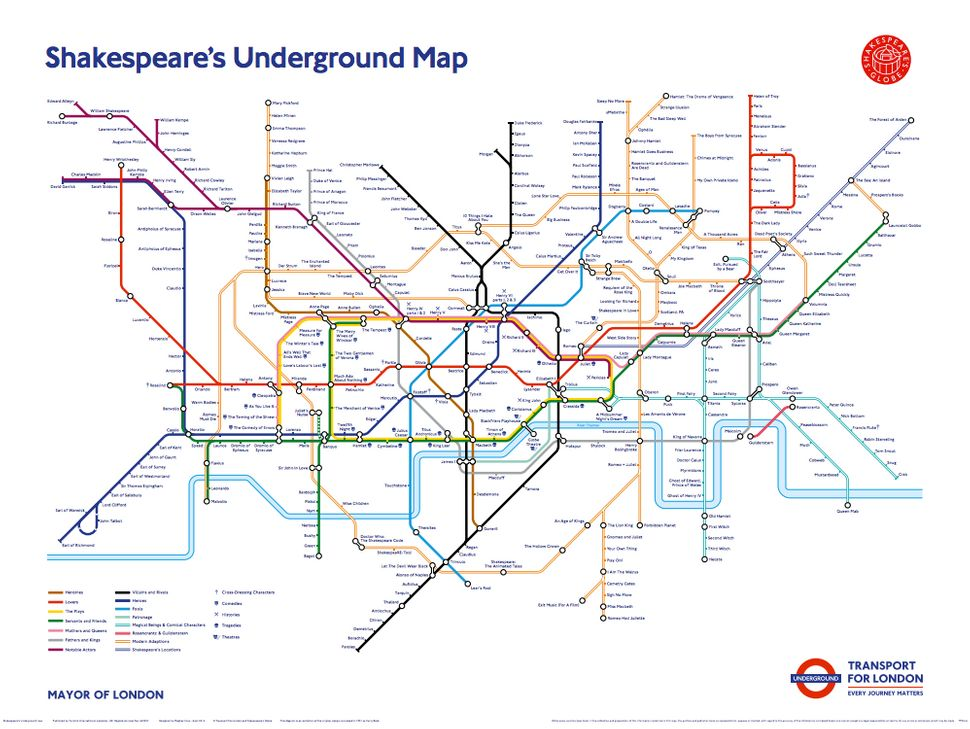 London Underground Tube Map Gets Shakespeare Makeover – London Tube Map Lines