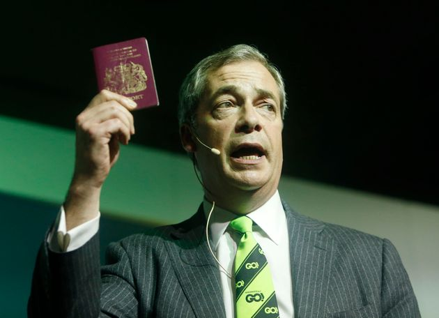 Nigel Farage, who has made migration a centrpiece of his 'Leave'