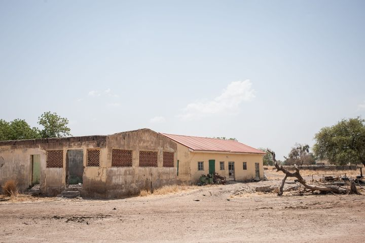 This photo shows the Government Girls Secondary School, where the girls were kidnapped. Amnesty International estim