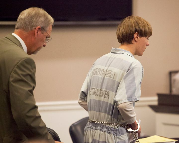 Charleston church shooter Dylann Roof during a hearing at the Judicial Center.