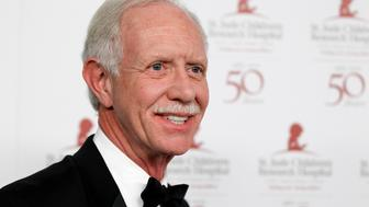 Pilot Captain Chesley Sullenberger poses at the benefit gala for the 50th anniversary of St. Jude Children's Research Hospital in Beverly Hills, California January 7, 2012. REUTERS/Danny Moloshok (UNITED STATES - Tags: ENTERTAINMENT)