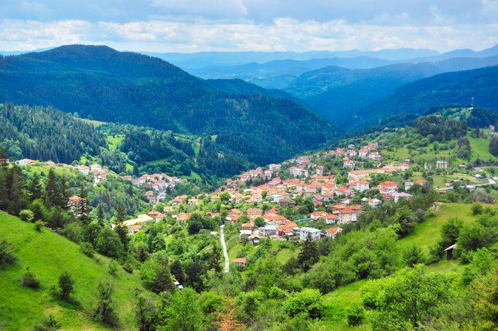 Summer landscape in Bulgaria.
