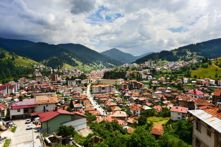 Mountain city of Chepelare, Bulgaria.
