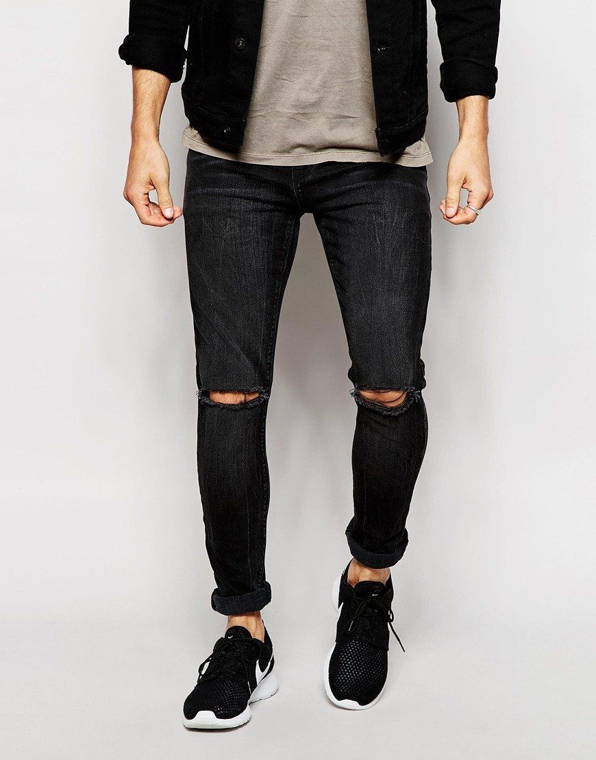 """ASOS Super Skinny Jeans With Rips ($51, <a href=""""http://us.asos.com/ASOS-Super-Skinny-Jeans-With-Rips/173wl8/?iid=5238402&amp"""