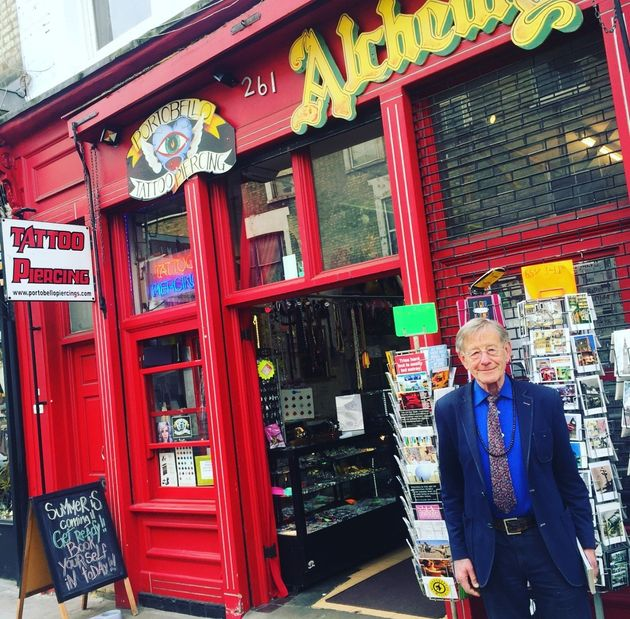 Harris opened Alchemy on Notting Hill's Portobello Rd in 1972 and still works