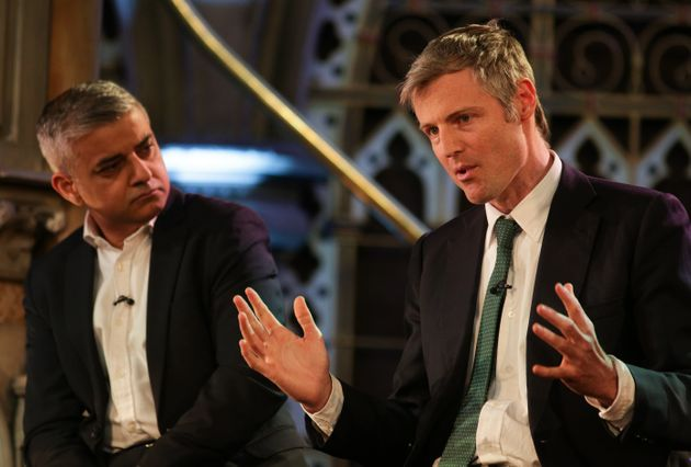 The electionis expected to be won by Zac Goldsmith, right, or Sadiq Khan,