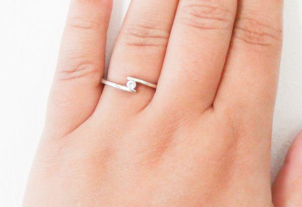 silver fashion fine smooth ring sterling rings finger little simple pure item thin for real jewelry women