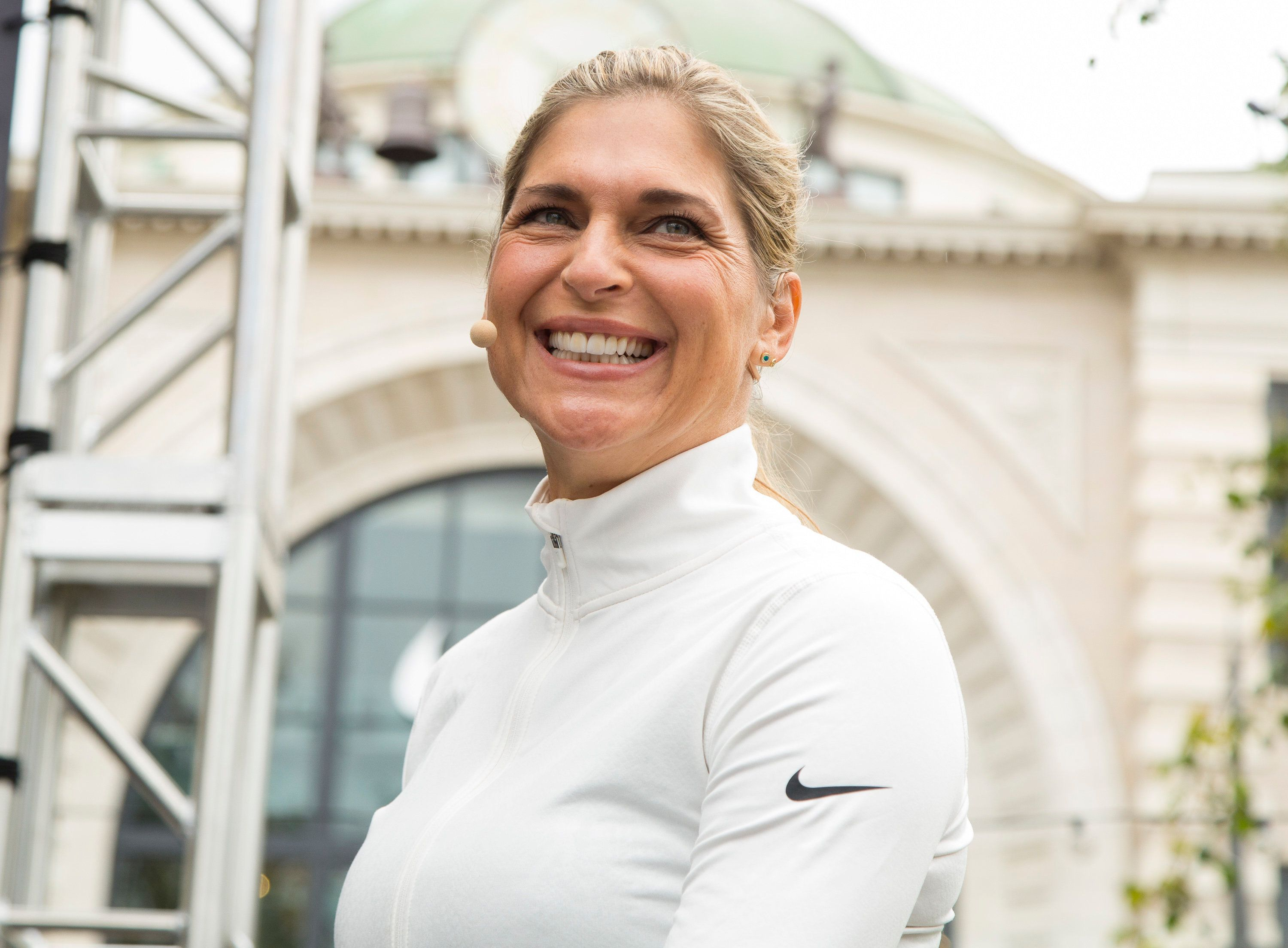 LOS ANGELES, CALIFORNIA - APRIL 09:  Gabrielle Reece attends NBC's New Trans-Formative Competition show 'Strong' Pop Up at The Grove on April 9, 2016 in Los Angeles, California.  (Photo by Vincent Sandoval/WireImage)