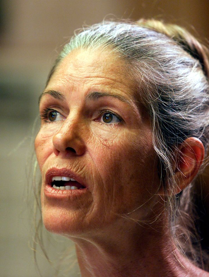 Leslie Van Houten appears at a 2002 parole hearing.