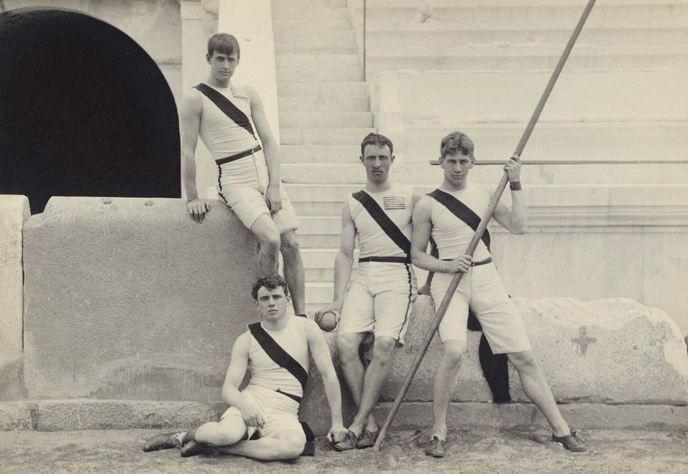 A new exhibition in Greece is taking visitors back to the first modern Olympic Games in 1896. Here, American athletes from Pr