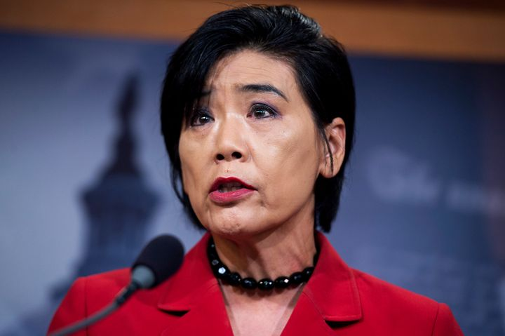 Rep. Judy Chu (D-Calif.) speaks during a news conference in the Capitol, June 24, 2015. Chu was one of several congresswomen