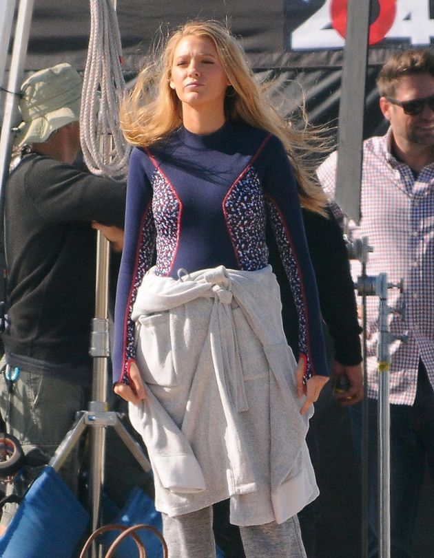 Actress Blake Lively is spotted filming some extra scenes for 'The Shallows' on the beach in Los Angeles,...