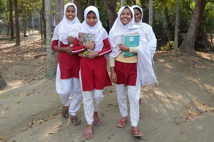 Girls participating in the BALIKA project.