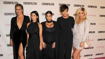 WEST HOLLYWOOD, CA - OCTOBER 12:  Khloe Kardashian;Kourtney Kardashian;Kim Kardashian;Kris Jenner, Kylie Jenner arrives at the Cosmopolitan Magazine's 50th Birthday Celebration at Ysabel on October 12, 2015 in West Hollywood, California.  (Photo by Steve Granitz/WireImage)