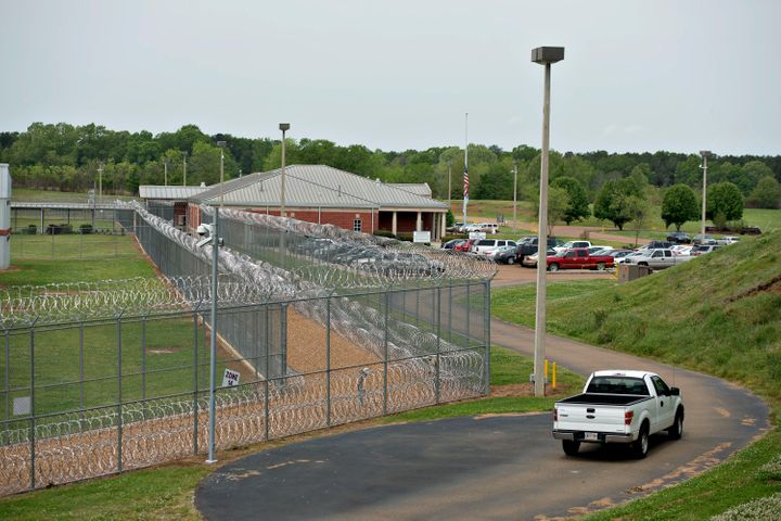 Fencing surrounds the Walnut Grove Correctional Facility in Walnut Grove, Mississippi, U.S., on Wednesday, April 17, 2013. In