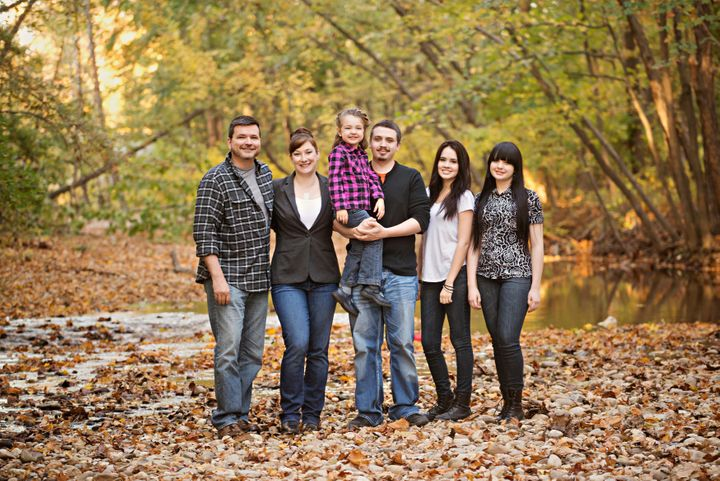 Jenny Phillips with her husband Jeff and their four kids: Addie, Shane, Ashland and Juliet.