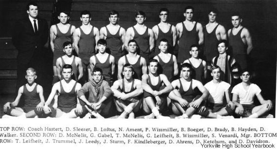 Dennis Hastert coached the wrestling team at Yorkville High School for nearly two decades.