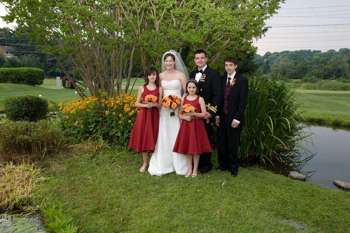 Jenny's family at her post-deployment weddinginJune 2008