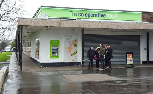 The incident began near a Co-op store in