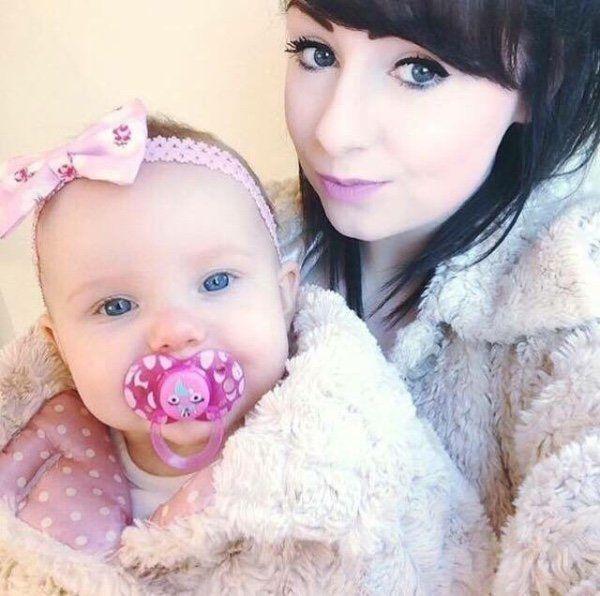 Lauren Heath and her daughter Millie