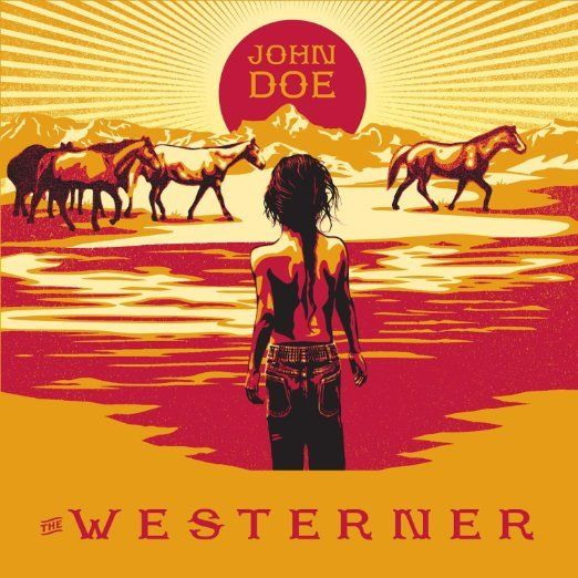 John Doe's <i>The Westerner</i> album cover