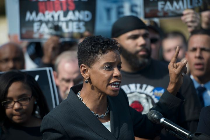 Donna Edwards is in a tight primary race with Chris Van Hollen for an open Senate seat.