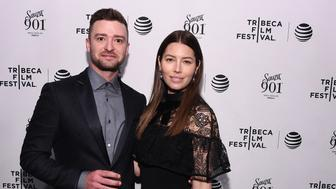 NEW YORK, NY - APRIL 14:  Justin Timberlake and Jessica Biel attend the 2016 Tribeca Film Festival after party for 'The Devil And The Deep Blue Sea' sponsored by Sauza 901 at 1OAK on April 14, 2016 in New York City.  (Photo by Ilya S. Savenok/Getty Images for 2016 Tribeca Film Festival)