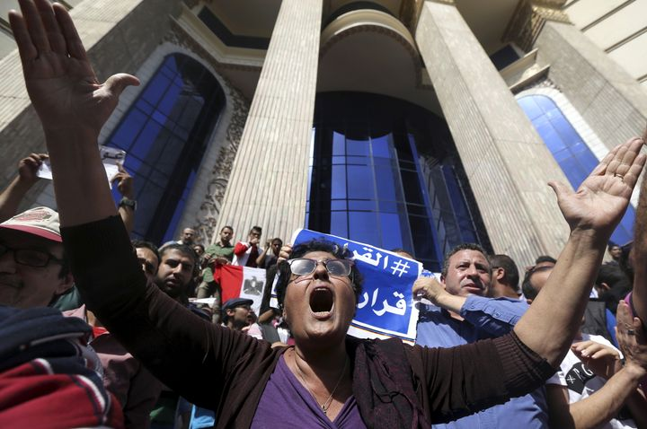Thousands of Egyptians took to the streets demanding the downfall of the government after President Abdel-Fattah el-Sissi dec