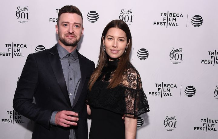 """Justin Timberlake and Jessica Biel attend the 2016 Tribeca Film Festival after party for """"The Devil And The Deep Blue Sea"""" on"""