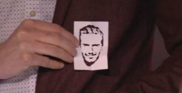 Richard had cut out a silhouette of David
