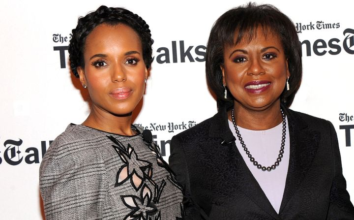 Kerry Washington and Anita Hill attend a panel discussion in New York City this month.