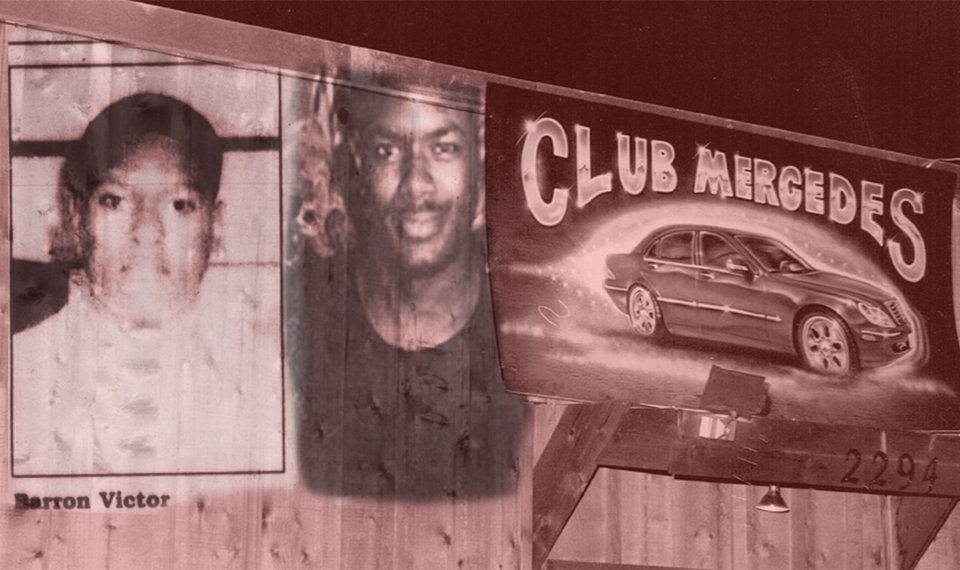 Victim Barron Victor Jr. (left), Thomas Williams and Club Mercedes.