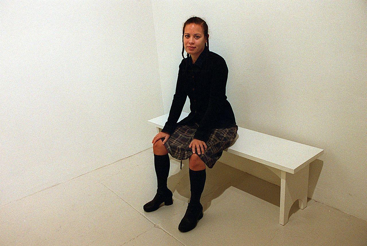Artist Ellen Gallagher at the Institute Of Contemporary Art.