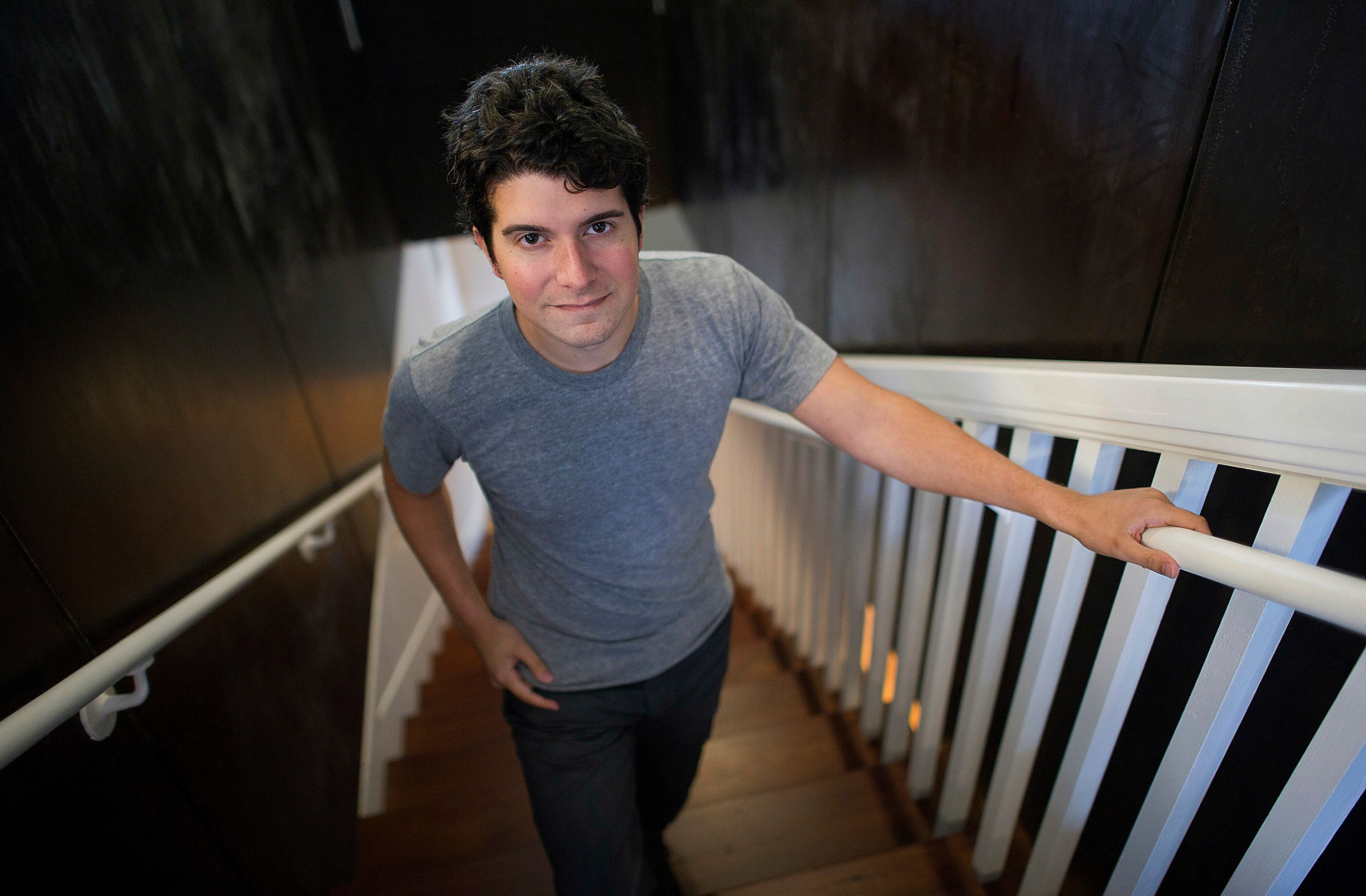 Anthony Casalena, chief executive officer and founder of Squarespace Inc., stands for a photograph after an interview in San Francisco, California, U.S., on Thursday, July 26, 2012. Squarespace, a web publishing company that provides individuals and small businesses with the ability to build and maintain well-designed websites, recently launched it's latest version offering new tools for web designers and engineers such as drag and drop and scaling. Photographer: David Paul Morris/Bloomberg via Getty Images