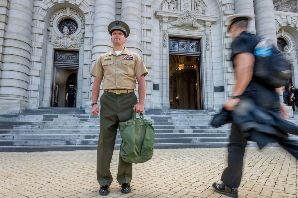 Capt. Matt Lampert of the Marine Raiders currently teaches at the U.S. Naval Academy. Though he lost both legs inan IED