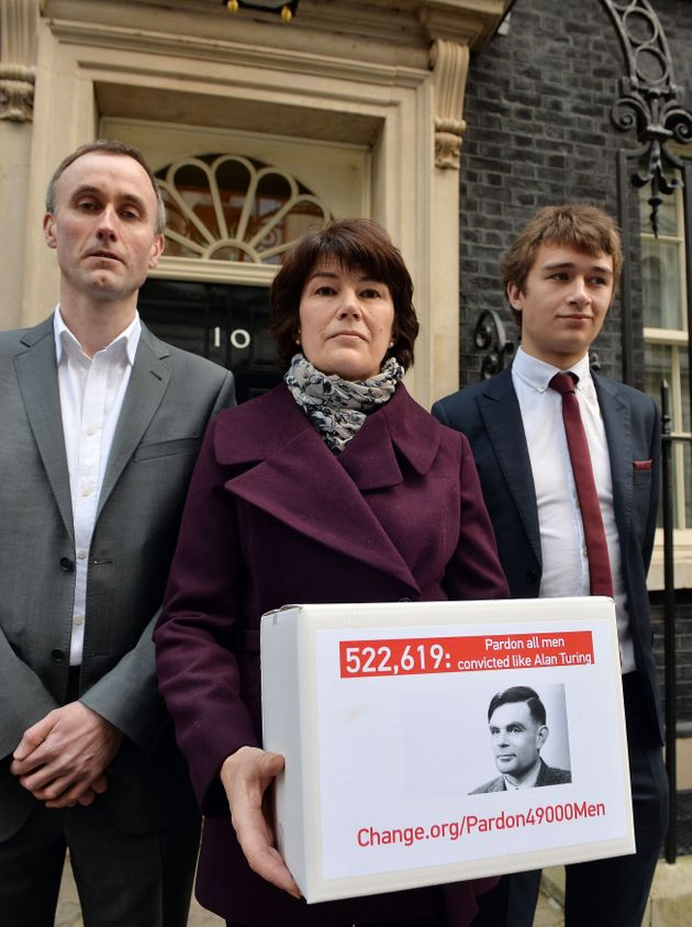 Alan Turing's familyhand in a petition at number 10 Downing Street calling for the 49,000 people...