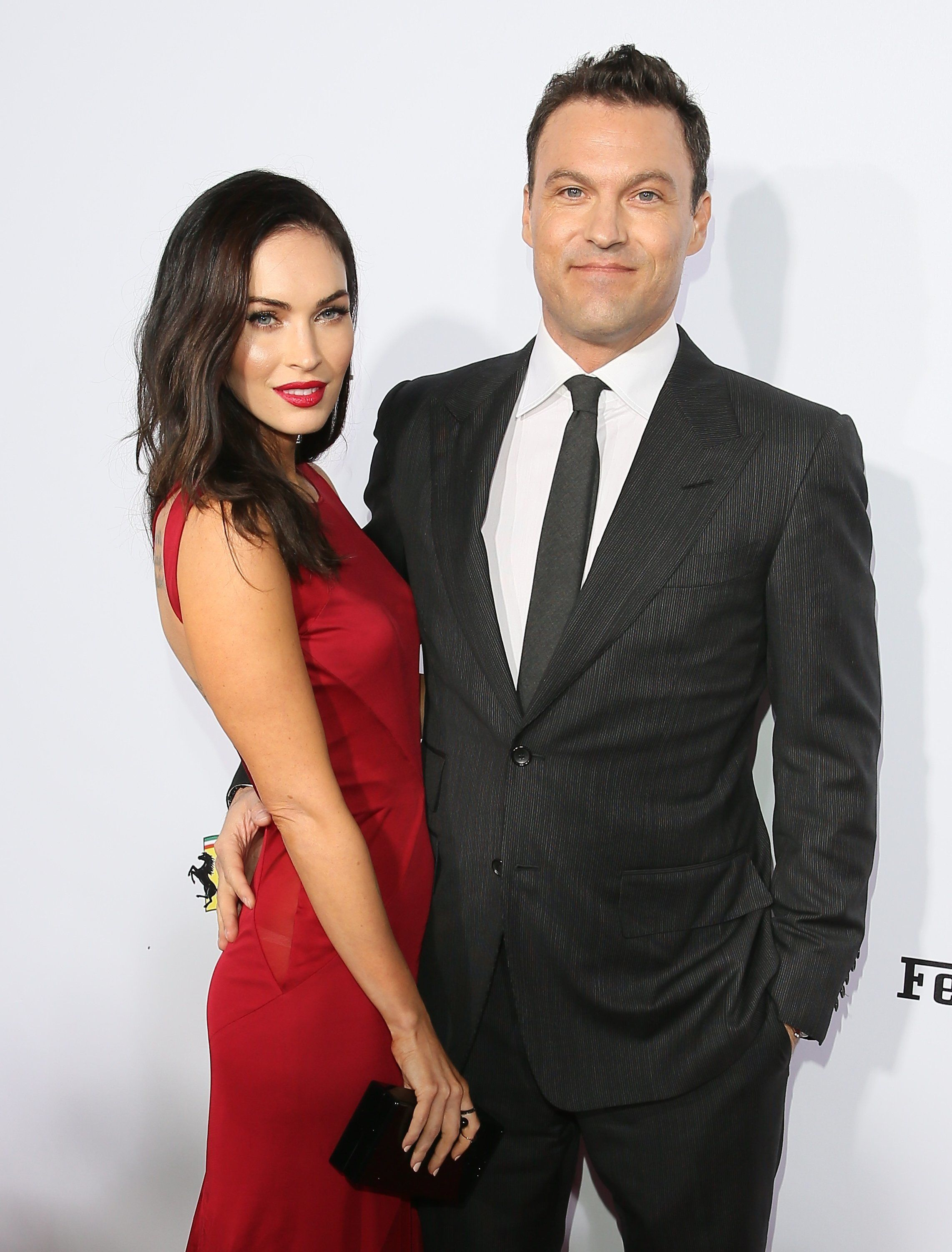 Actors Megan Fox and Brian Austin Green attend Ferrari's 60th Anniversary in the USA Gala at the Wallis Annenberg Center for