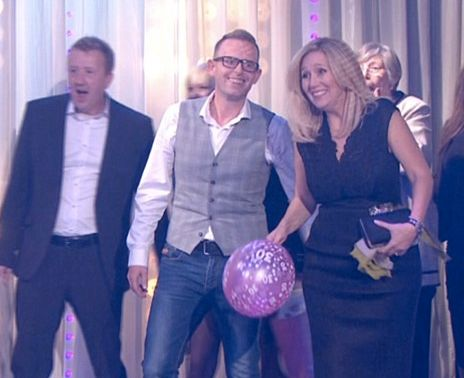 The shot of Dan with his new partner that stopped 'Saturday Night Takeaway' viewer Helen in her