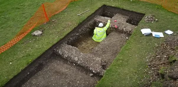 Archaeologists unearthed a host of items from the eight-day dig, including oysters, brooches, a child's coffin and a Roman we