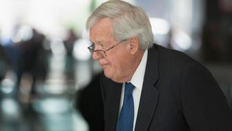 CHICAGO, IL - JUNE 09:  Former Republican Speaker of the House Dennis Hastert arrives for his arraignment at the Dirksen Federal Courthouse on June 9, 2015 in Chicago, Illinois. Hastert was in court to answer charges that he knowingly lied to the FBI and intentionally evaded federal reporting requirements involving bank transactions. Hastert is alleged to have withdrawn more than $1.5 million dollars in several installments from bank accounts to make payments to an 'Individual A' to cover-up sexual abuse that reportedly took place when Hastert was a teacher and wrestling coach at Yorkville High School. Since Hastert was charged, other reports of sexual abuse by Hastert have surfaced.  (Photo by Scott Olson/Getty Images)