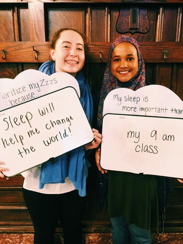 HuffPost studentblogger Lucy Friedmann and her roommate Ladan Mohamed share why they prioritize their Zzzs.