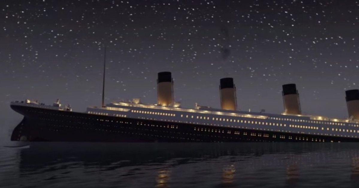 watch the titanic sink in real time in eerie animated