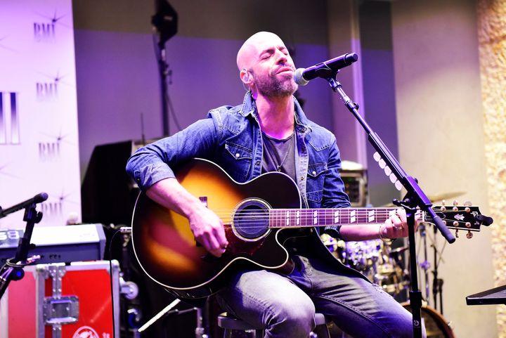 Chris Daughtry performs at BMI in New York on April 12, 2016.
