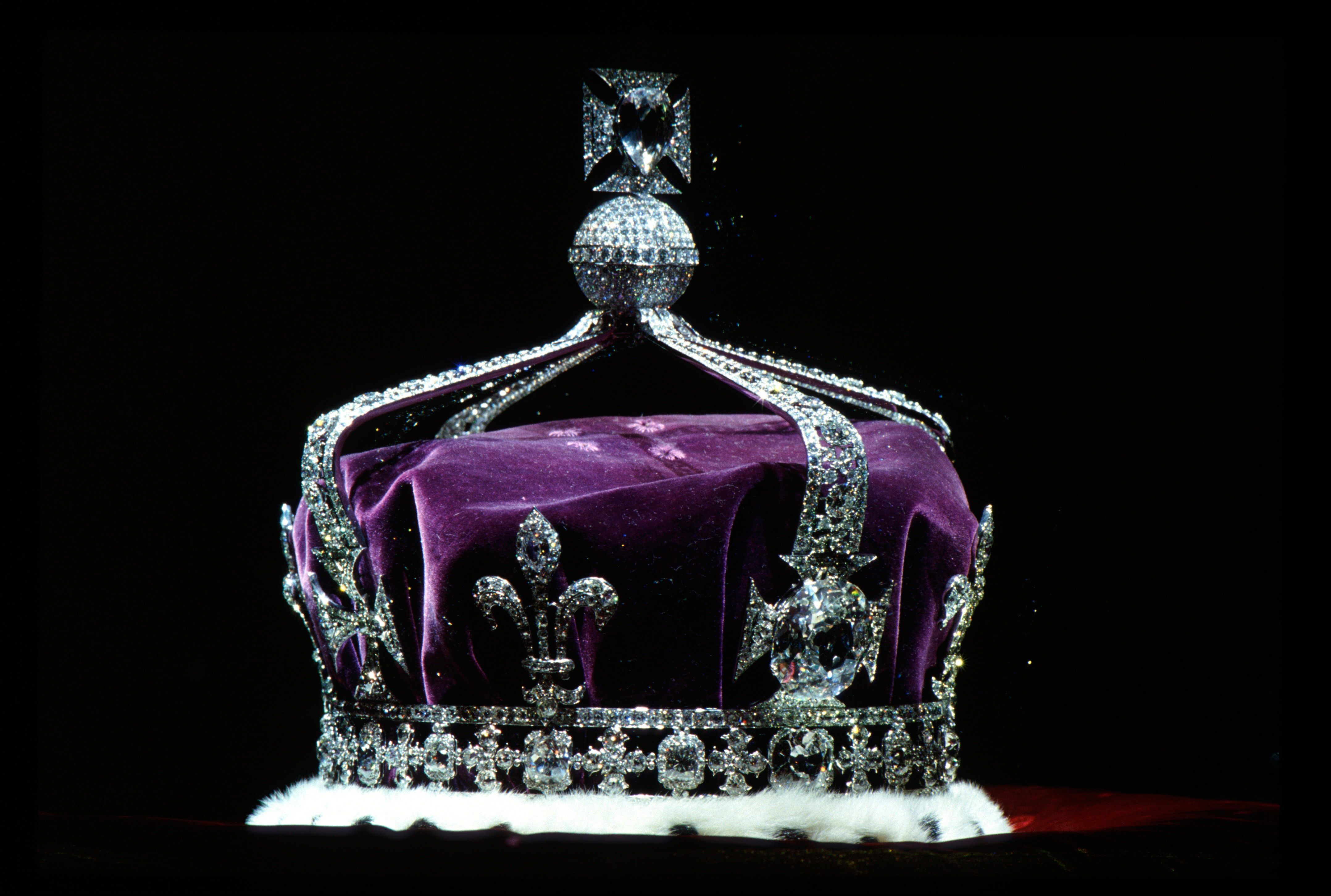 The crown containing the famous Koh-i-noor diamond. The Indian government said on Monday India should forego its claim t
