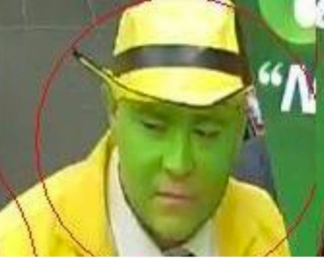 Police want to speak to this man, dressed as movie character, The Mask, in connection with an